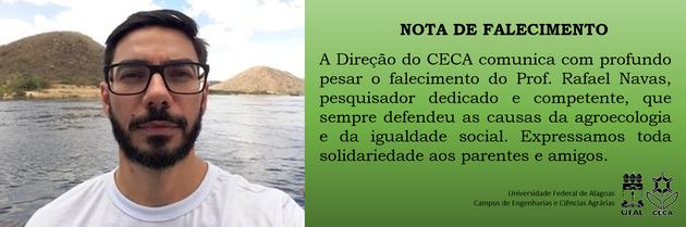 Nota de falecimento - Prof Rafael Navas